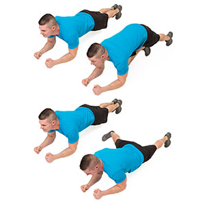 Plank with an Alternating L-Tap