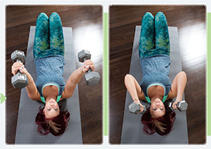 Lying Down Triceps Extensions