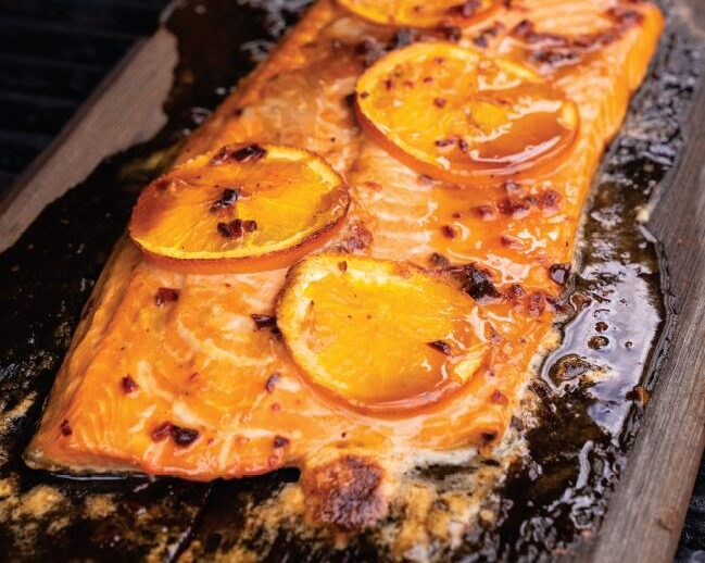 Sweet and Smoky Cedar Planked Salmon