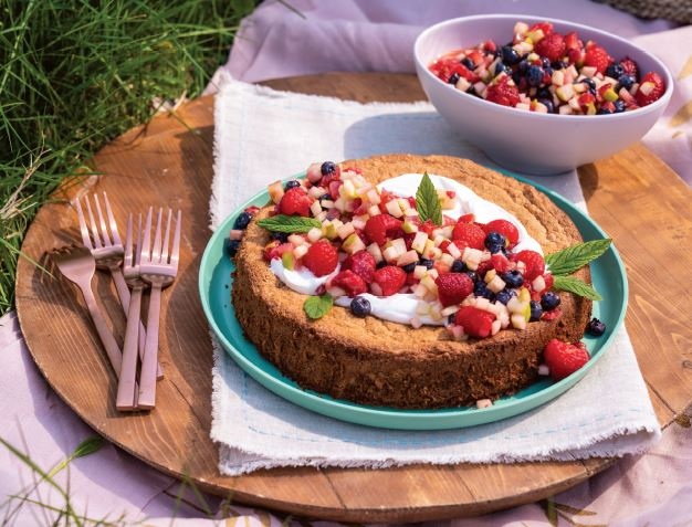 Cinnamon Citrus Olive Oil Cake with Berry SALSA