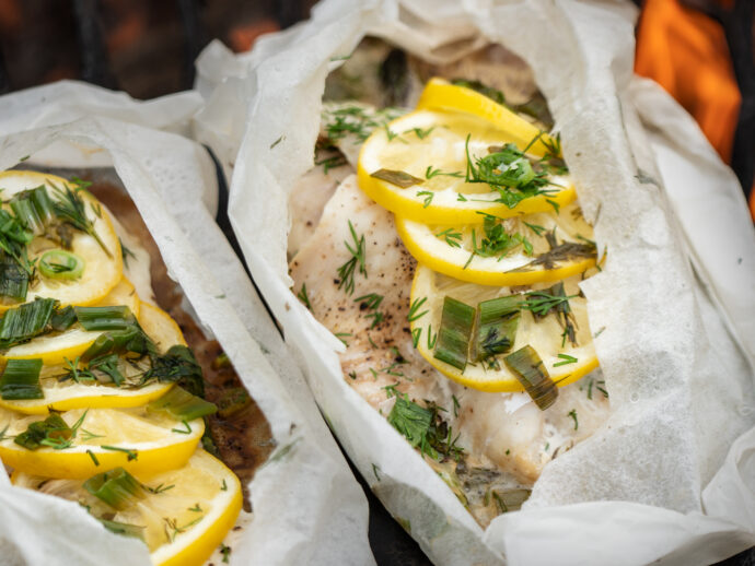 Fish and Asparagus en Papillote