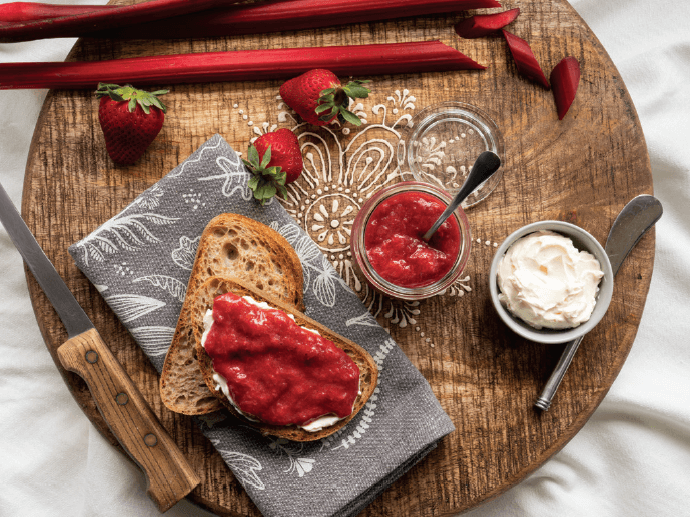 Rhubarb Strawberry Collagen Jam