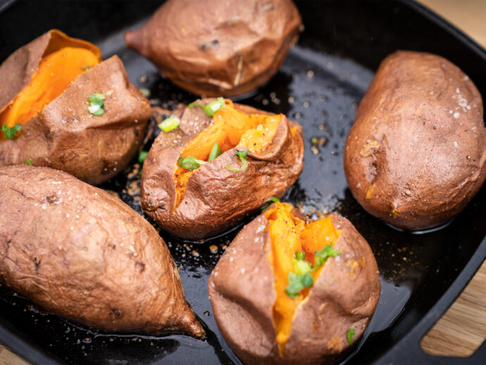 Fire Roasted Sweet Potatoes